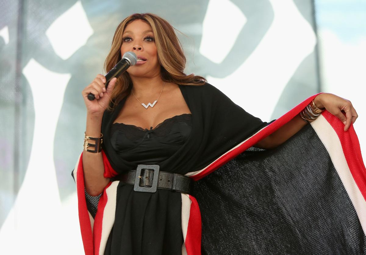 Wendy Williams appears onstage during the Lane Bryant launch of the #PlusIsEqual campaign at Times Square on September 14, 2015 in New York City