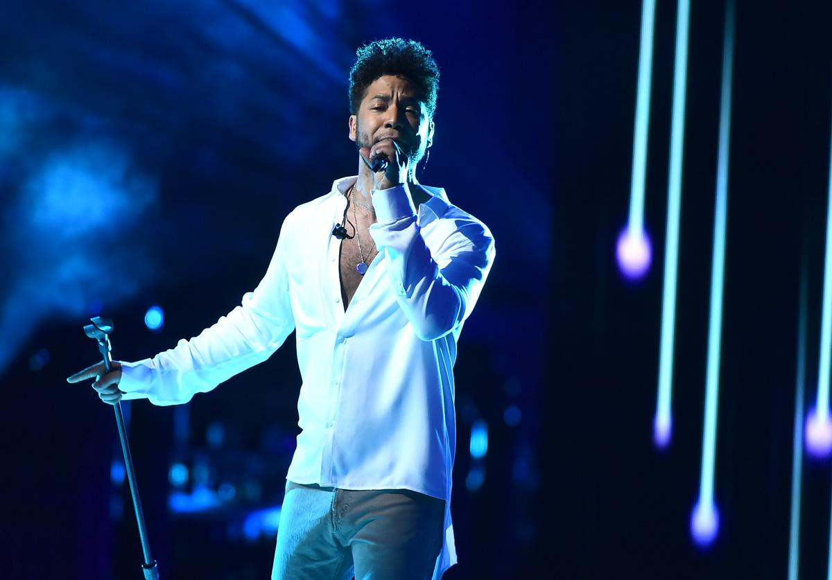 Jussie Smollett performs on stage during VH1 Trailblazer Honors 2018 at The Cathedral of St. John the Divine on June 21, 2018 in New York City