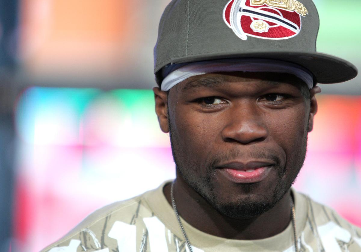 Curtis Jackson, also known as '50 Cent,' makes an appearance on MTV's Total Request Live on August 6, 2007 in New York City