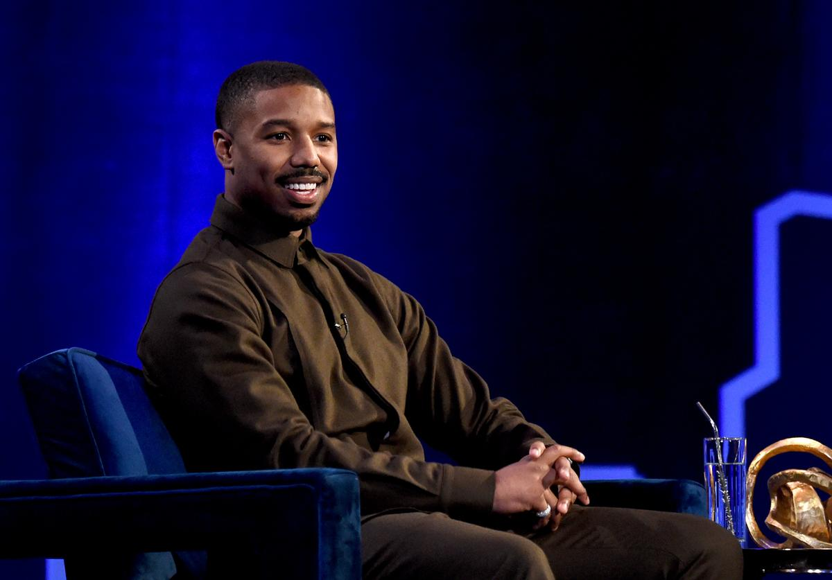 Michael B. Jordan speaks during Oprah's SuperSoul Conversations at PlayStation Theater on February 05, 2019 in New York City.