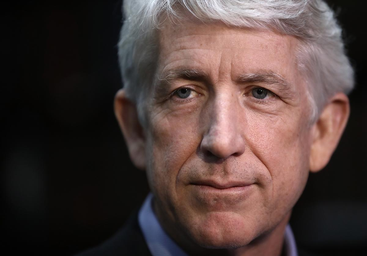 Virginia Attorney General Mark Herring answers questions after speaking during a town hall meeting at the Dar Al-Hijrah Islamic Center mosque March 17, 2017 in Falls Church, Virginia