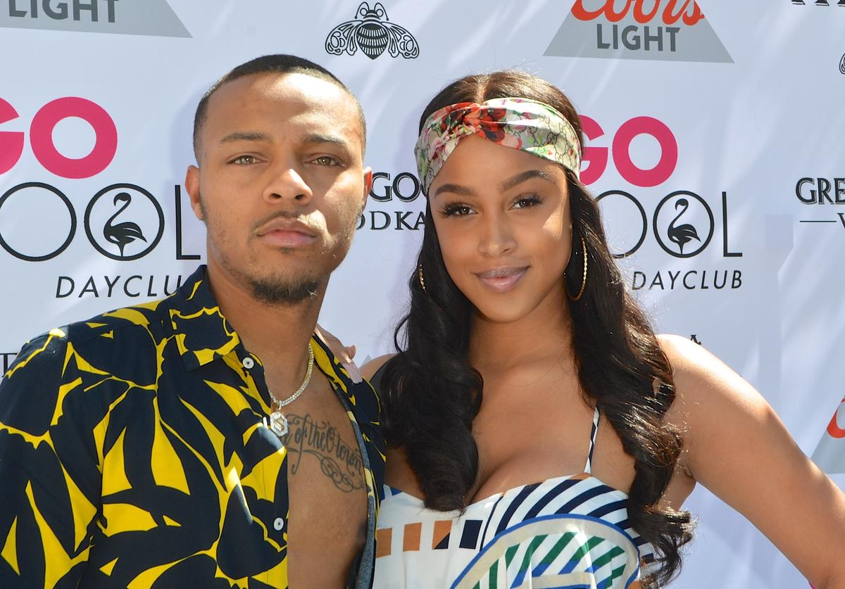 Rapper Shad 'Bow Wow' Moss (L) and model Kiyomi Leslie arrive at the Flamingo Go Pool Dayclub at Flamingo Las Vegas on June 23, 2018 in Las Vegas, Nevada.