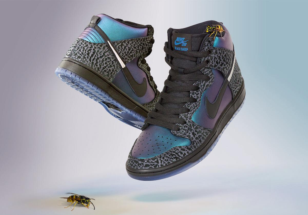"Black Sheep Nike SB Dunk High ""Black Hornet"""
