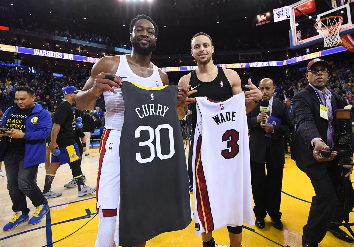 Dwyane Wade and Steph Curry