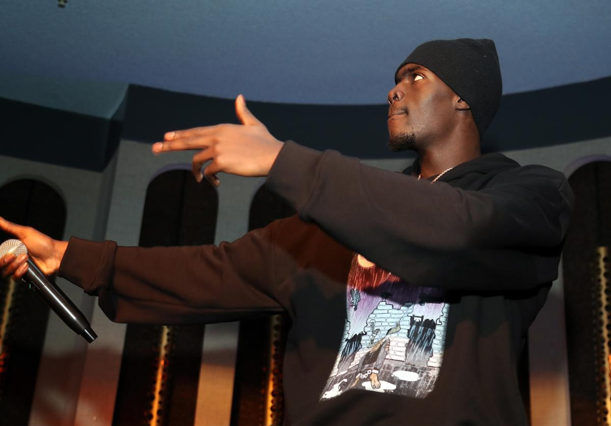 Sheck Wes performs at LiveXLive Post Grammy Party at The Peppermint Club on February 10, 2019 in Los Angeles, California