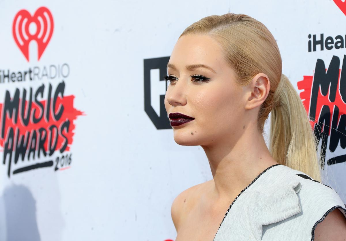 Iggy Azalea attends the iHeartRadio Music Awards at The Forum on April 3, 2016 in Inglewood, California