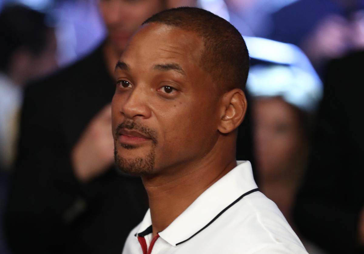 Actor Will Smith is seen in attendance prior to the middleweight championship bout between Gennady Golovkin and Canelo Alvarez at T-Mobile Arena on September 15, 2018 in Las Vegas, Nevada.