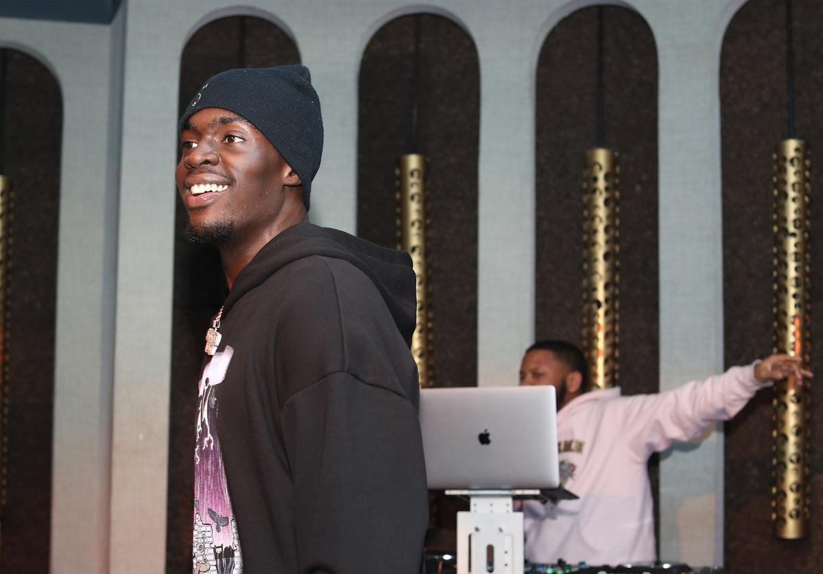 Sheck Wes performs at LiveXLive Post Grammy Party at The Peppermint Club on February 10, 2019 in Los Angeles, California. (