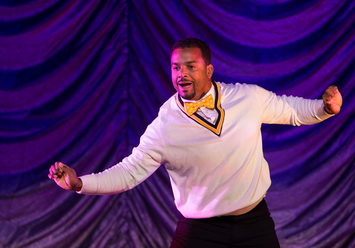 Alfonso Ribeiro performs during the Dancing With The Stars: Live! Tour at Turning Stone on December 28, 2014 in Verona, New York.