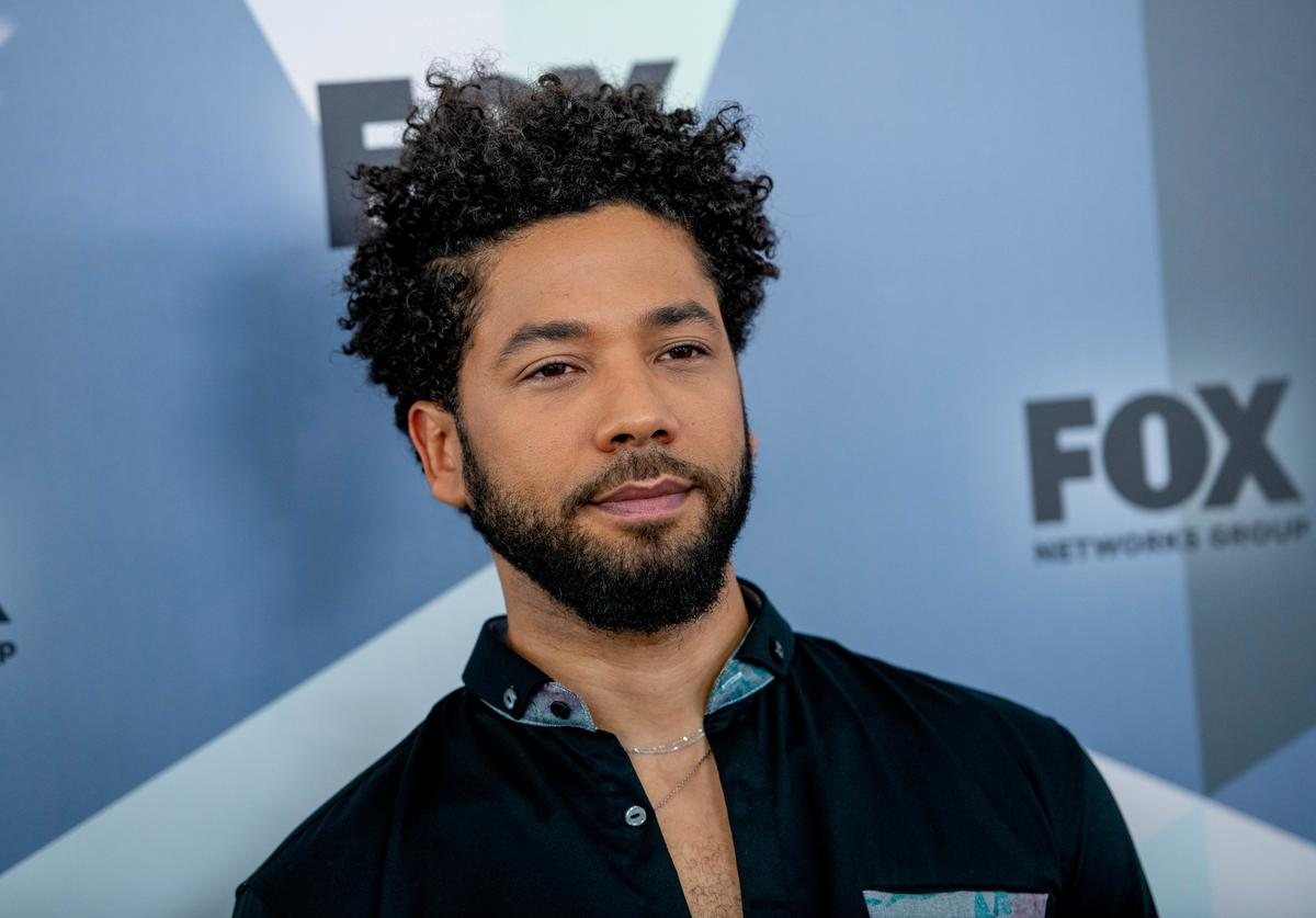 Jussie Smollett attends the 2018 Fox Network Upfront at Wollman Rink, Central Park on May 14, 2018 in New York City