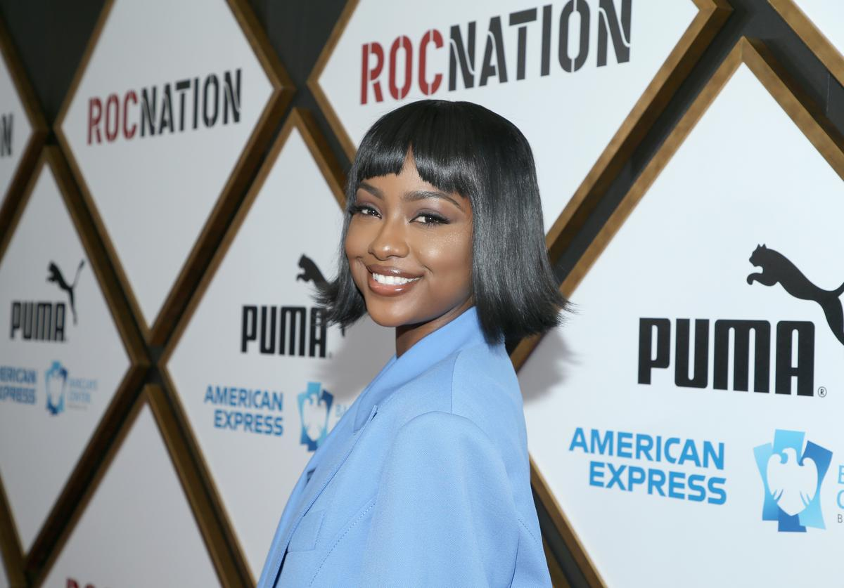 Justine Skye attends 2019 Roc Nation THE BRUNCH on February 9, 2019 in Los Angeles, California.
