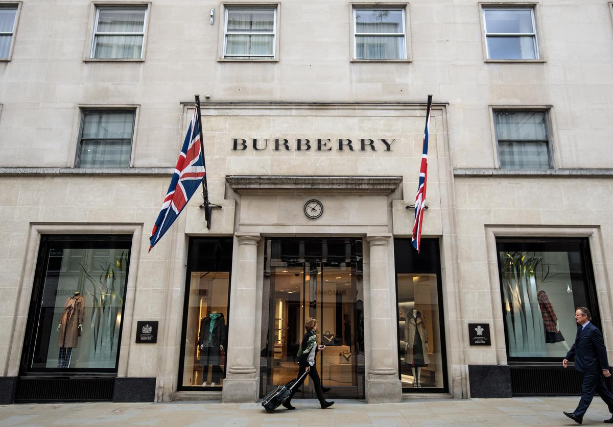 Burberry store stands in Mayfair on April 26, 2018 in London, England