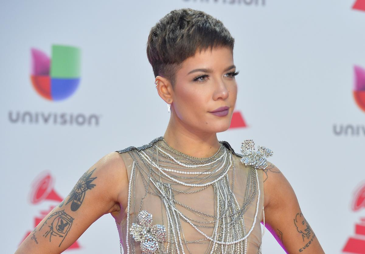 Halsey attends the 19th annual Latin GRAMMY Awards at MGM Grand Garden Arena on November 15, 2018 in Las Vegas, Nevada