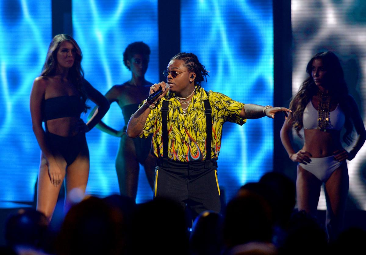 Gunna performs onstage during the BET Hip Hop Awards 2018 at Fillmore Miami Beach on October 6, 2018 in Miami Beach, Florida
