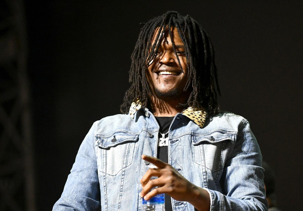 Rapper Young Nudy performs onstage during day two of the Rolling Loud Festival at NOS Events Center on December 17, 2017 in San Bernardino, California.
