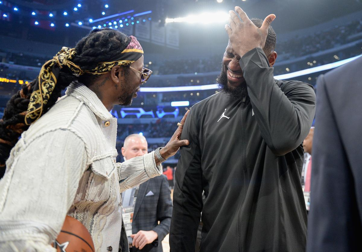 2 Chainz and LeBron James attend the NBA All-Star Game 2018 at Staples Center on February 18, 2018 in Los Angeles, California