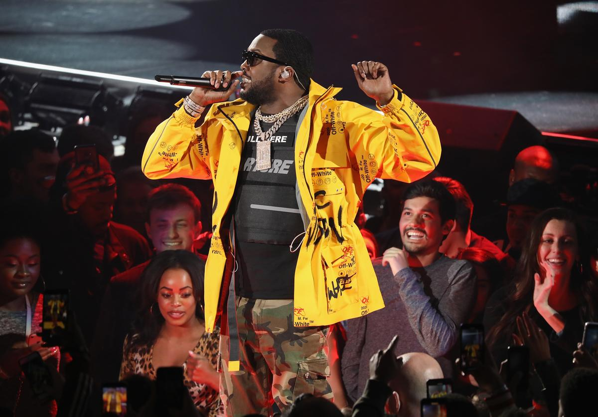 Meek Mill performs during the 68th NBA All-Star Game at Spectrum Center on February 17, 2019 in Charlotte, North Carolina