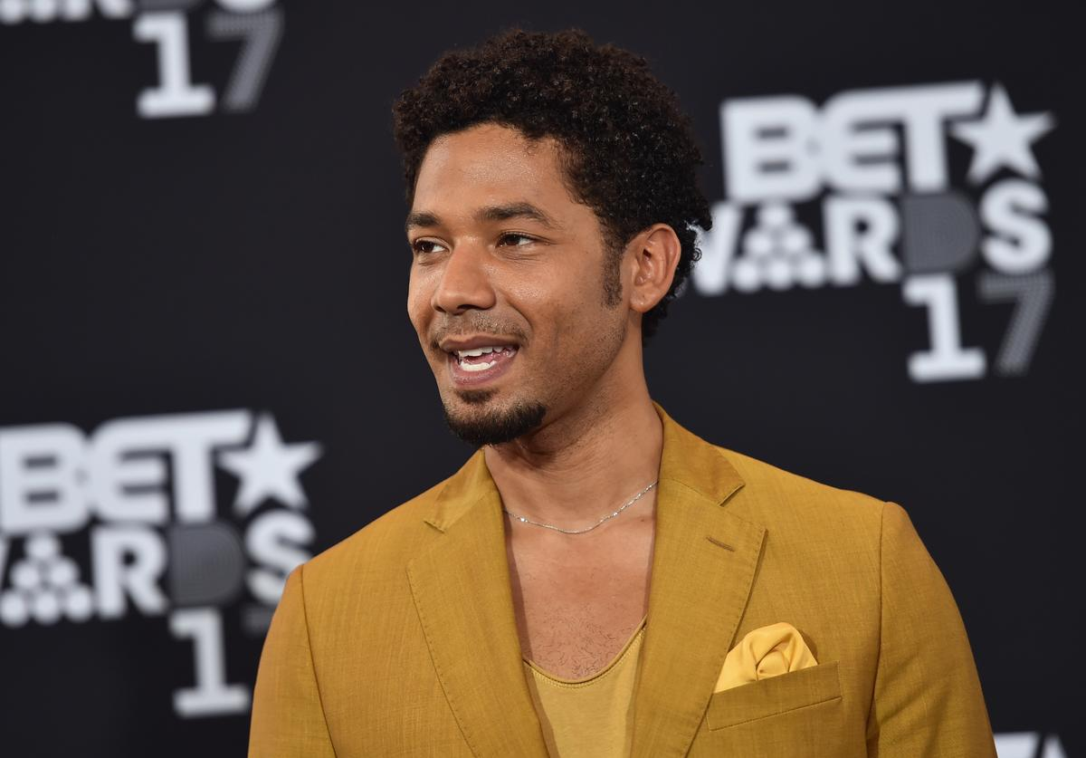 Jussie Smollett poses in the press room at the 2017 BET Awards at Microsoft Theater on June 25, 2017 in Los Angeles, California