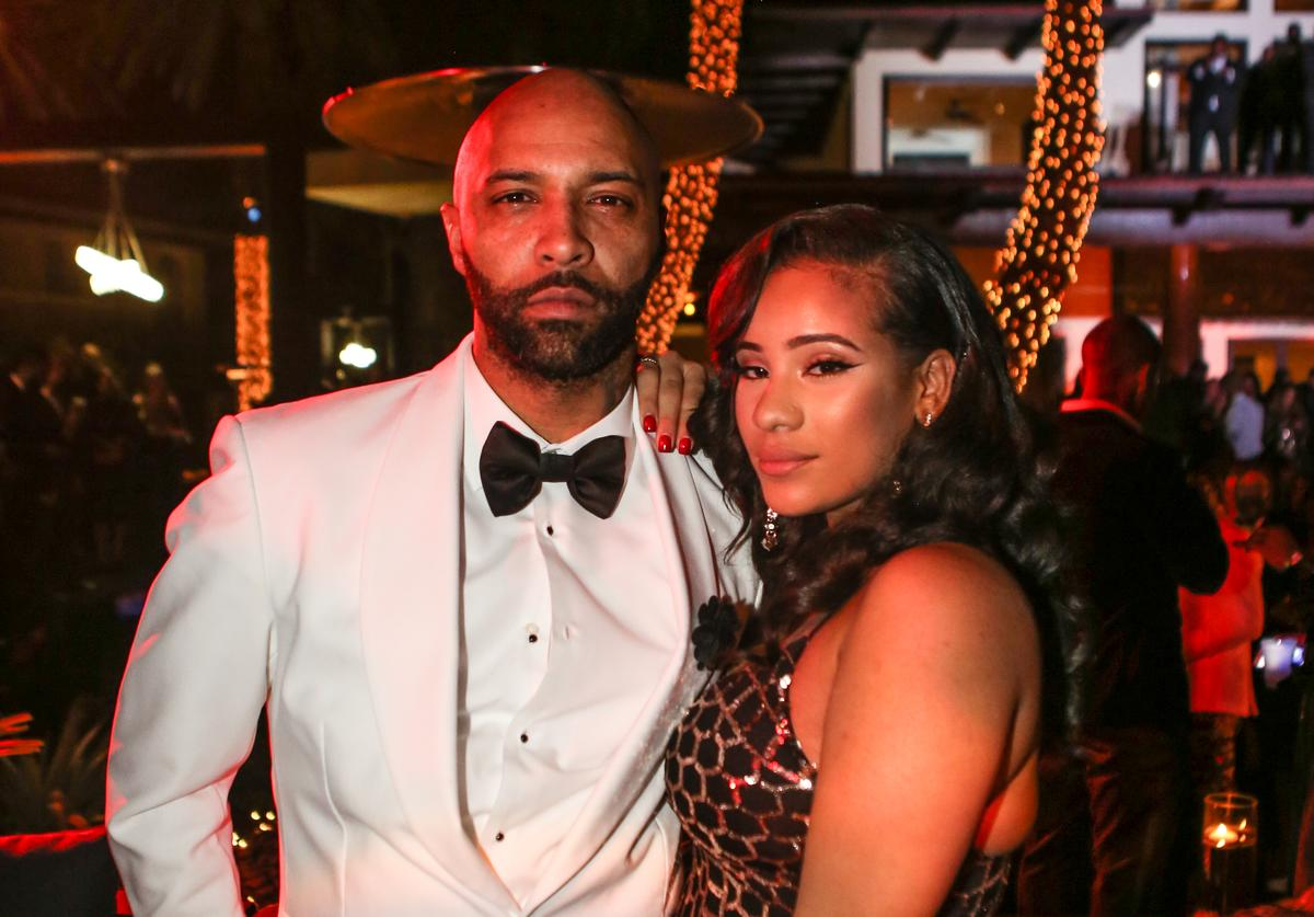 Joe Budden and Cyn Santana attend Sean 'Diddy' Combs Hosts CIROC The New Year 2018 Powered By Deleon Tequila at Star Island on December 31, 2017 in Miami, Florida