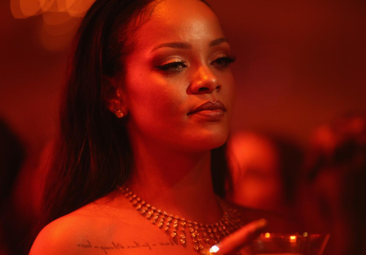 Rihanna attends the 2nd Annual Diamond Ball hosted by Rihanna and The Clara Lionel Foundation at The Barker Hanger on December 10, 2015 in Santa Monica, California