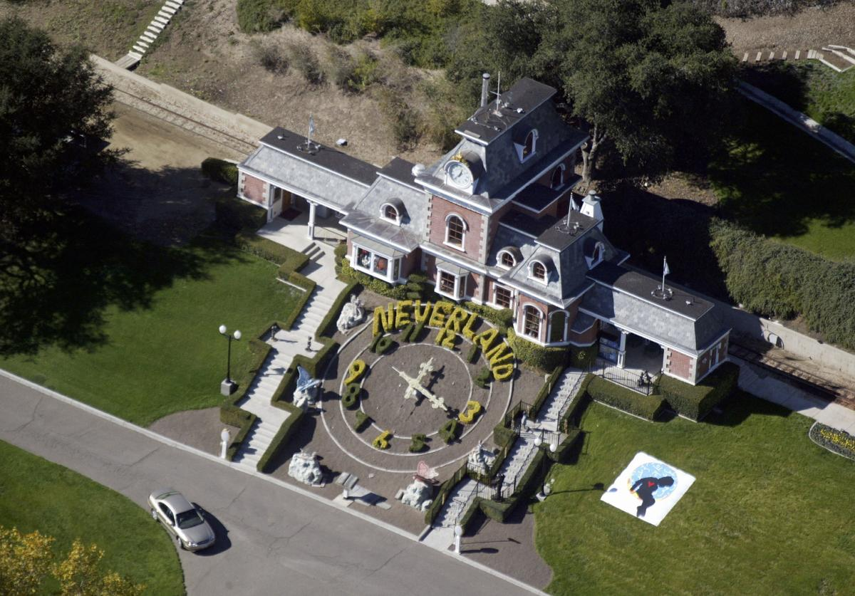 Michael Jackson's Neverland Ranch is shown November 18, 2003 outside of Santa Barbara, California