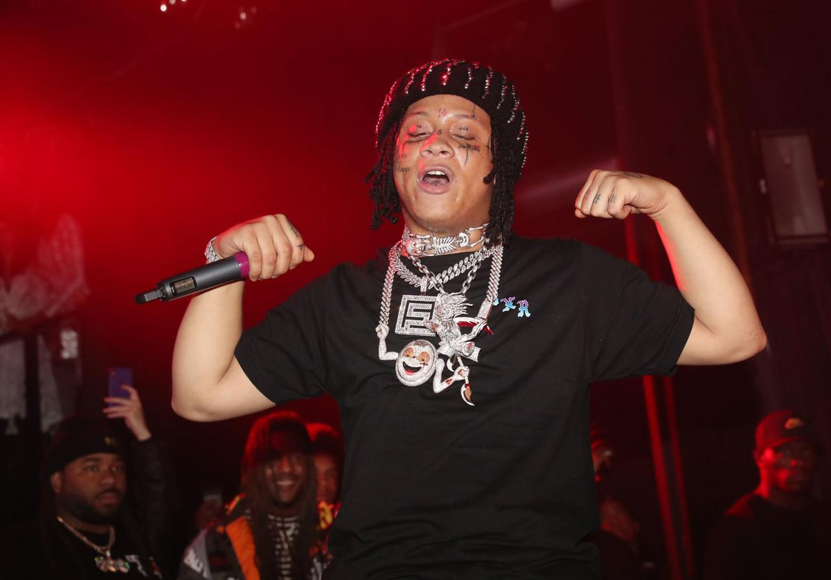 Trippie Redd performs at Irving Plaza on February 5, 2019 in New York City