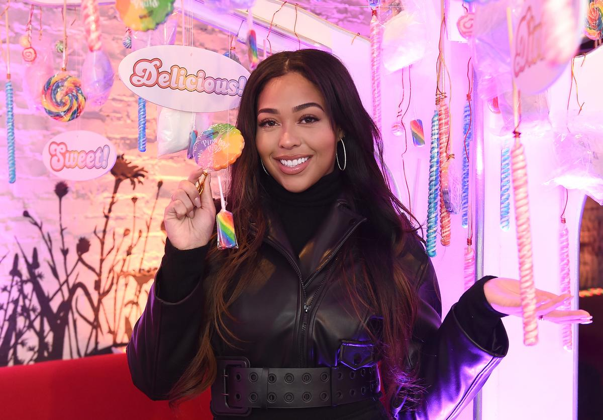 Jordyn Woods attends the Candy Crush Friends Saga 'Sweet n Solo' Valentine's Day Dining Experience at Dirt Candy on February 6, 2019 in New York City
