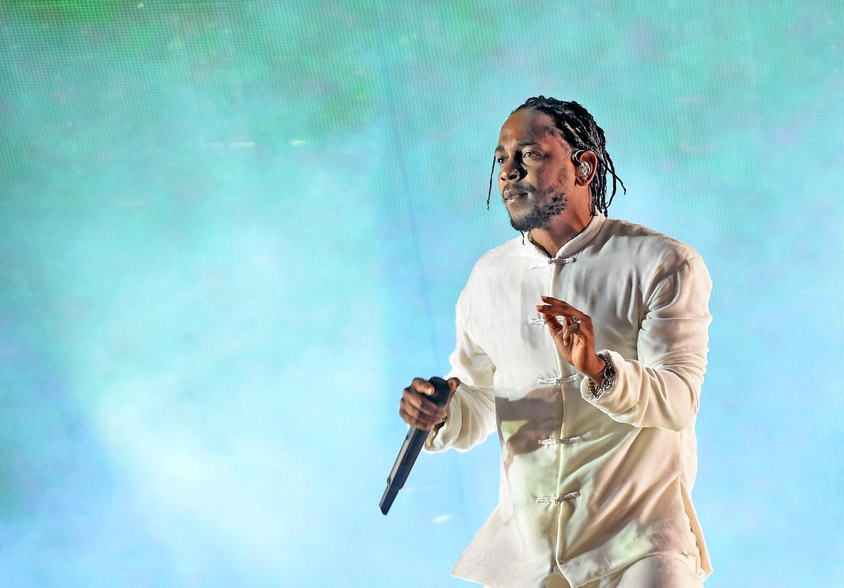 Kendrick Lamar performs on the Coachella Stage during day 3 (Weekend 2) of the Coachella Valley Music And Arts Festival on April 23, 2017 in Indio, California