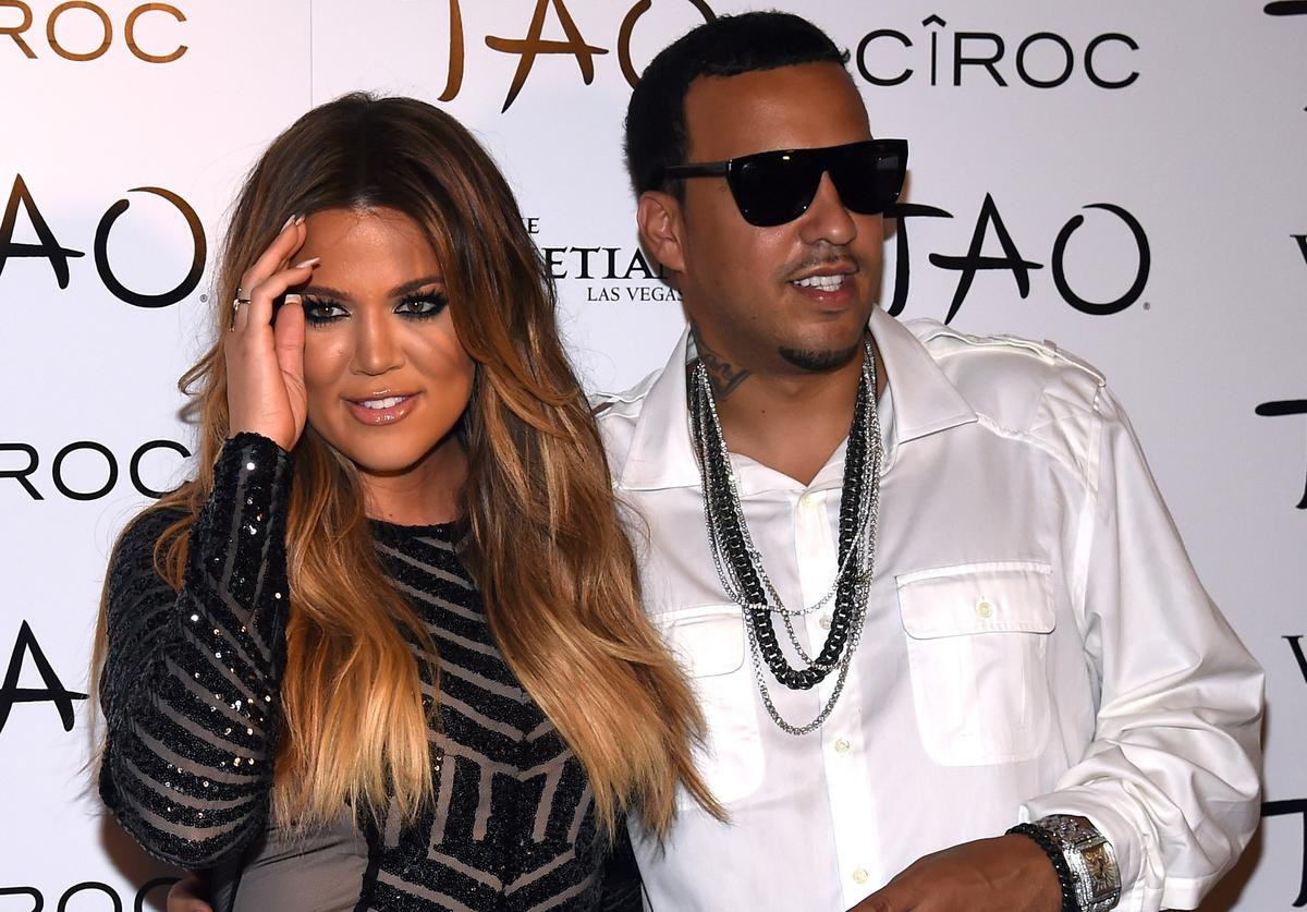 Television personality Khloe Kardashian (L) and rapper French Montana arrive at the Tao Nightclub at The Venetian Las Vegas to celebrate her birthday on July 4, 2014 in Las Vegas, Nevada. Kardashian turned 30 on June 27