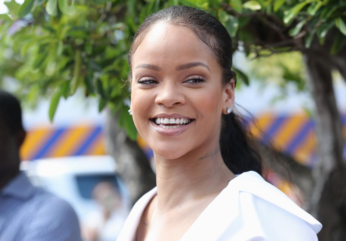 Rihanna attends the 'Man Aware' event held by the Barbados National HIV/AIDS Commission on the eleventh day of an official visit on December 1, 2016 in Bridgetown, Barbados. Prince Harry's visit to The Caribbean marks the 35th Anniversary of Independence in Antigua and Barbuda and the 50th Anniversary of Independence in Barbados and Guyana.