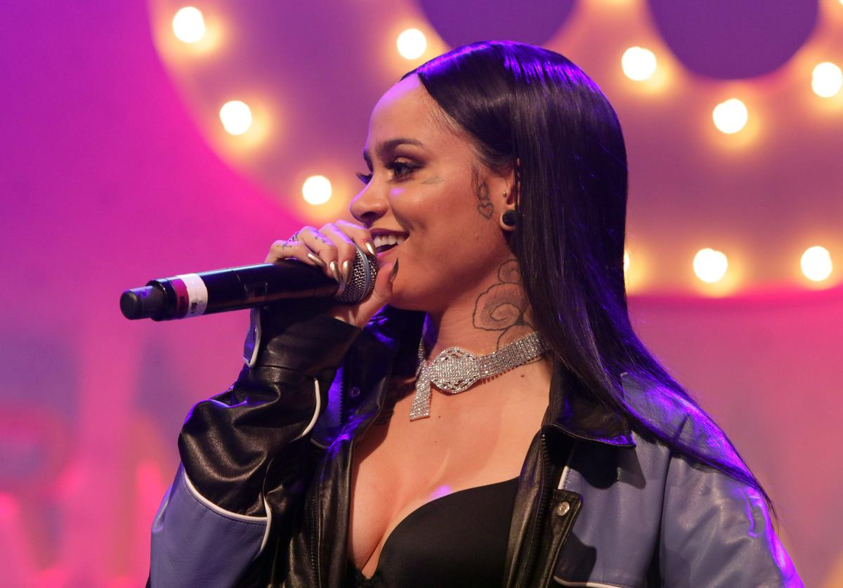 Kehlani performs at Remy Martin Presents The Warner Music Block Party at Milk Studios on February 12, 2017 in Hollywood, California