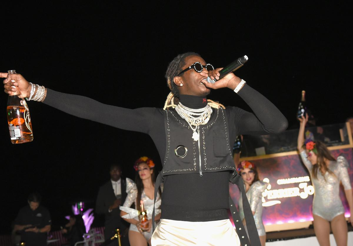 Young Thug performs at L'Eden by Perrier-Jouët on December 6, 2018 in Miami Beach, Florida
