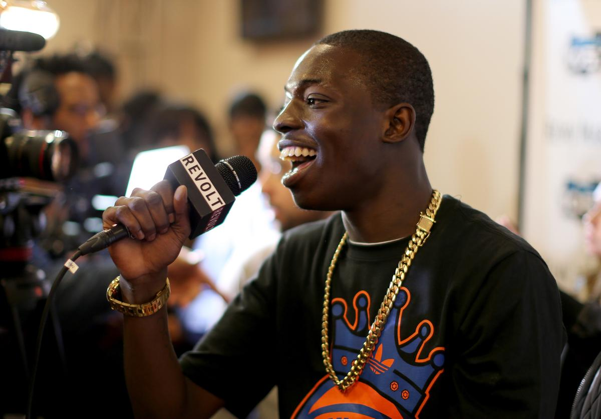 Bobby Shmurda is interviewed at Power 105.1's Powerhouse 2014 at Barclays Center of Brooklyn on October 30, 2014 in New York City