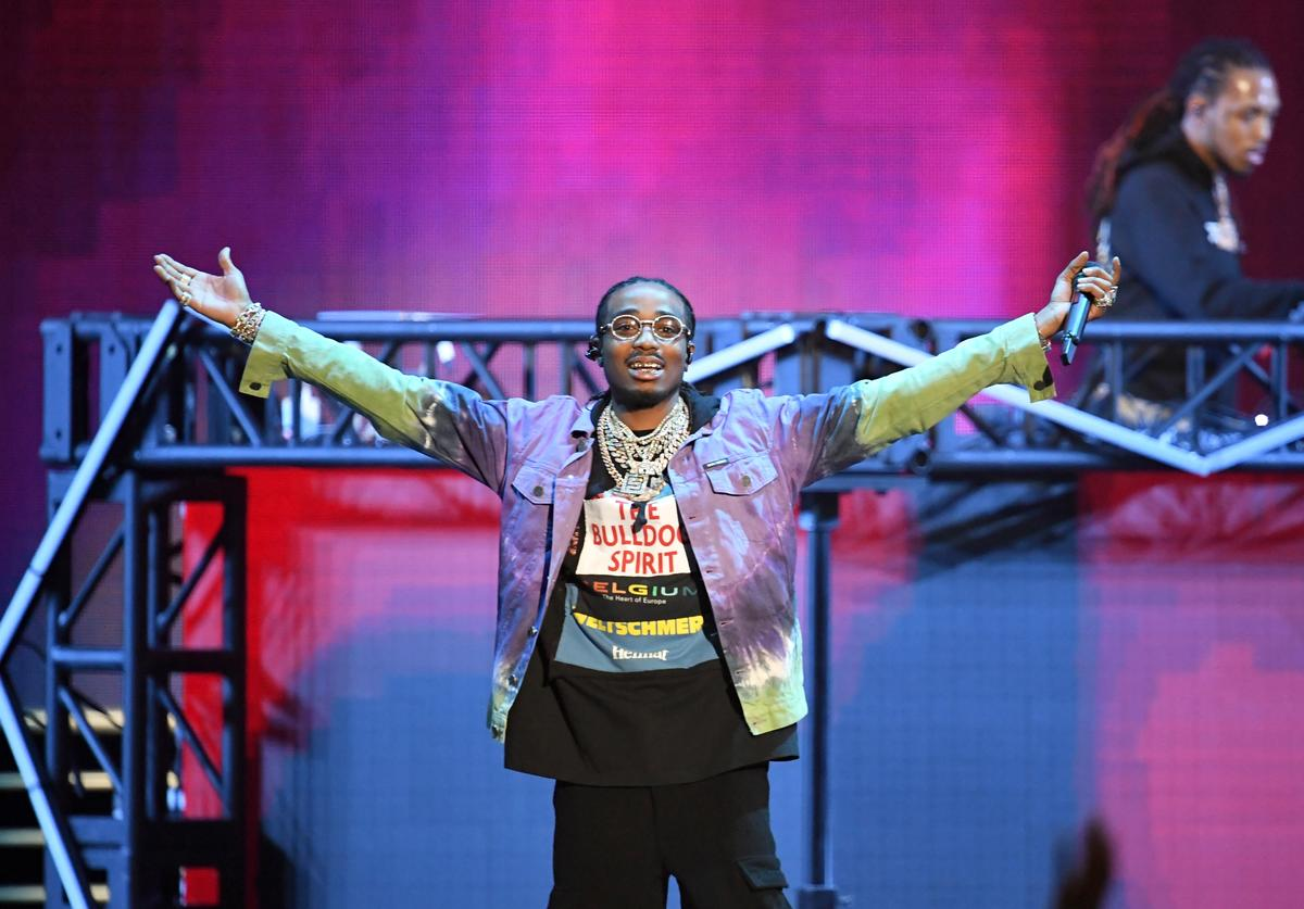 Quavo of Migos performs onstage during Bud Light Super Bowl Music Fest / EA SPORTS BOWL at State Farm Arena on January 31, 2019 in Atlanta, Georgia