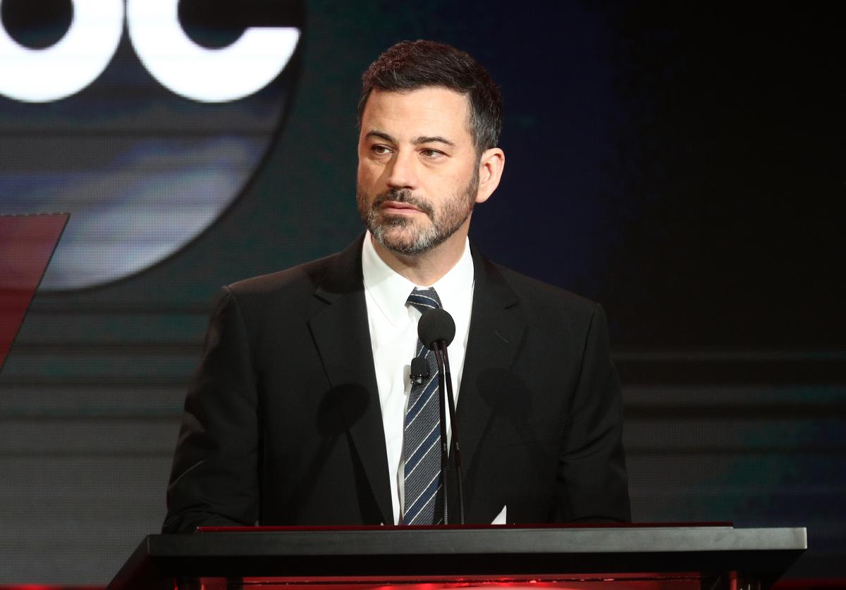 Jimmy Kimmel speaks during the ABC segment of the 2019 Winter Television Critics Association Press Tour at The Langham Huntington, Pasadena on February 05, 2019 in Pasadena, California