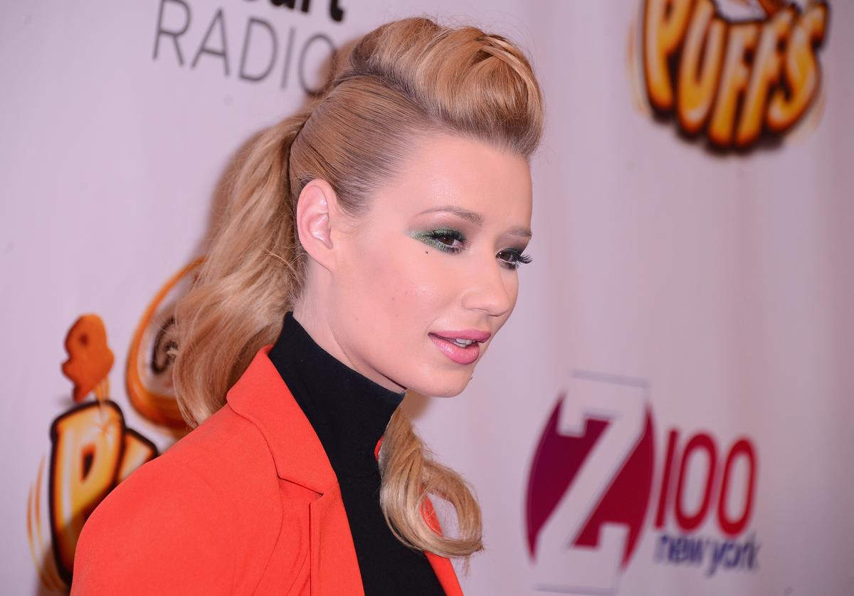 Iggy Azalea attends iHeartRadio Jingle Ball 2014, hosted by Z100 New York and presented by Goldfish Puffs at Madison Square Garden on December 12, 2014 in New York City