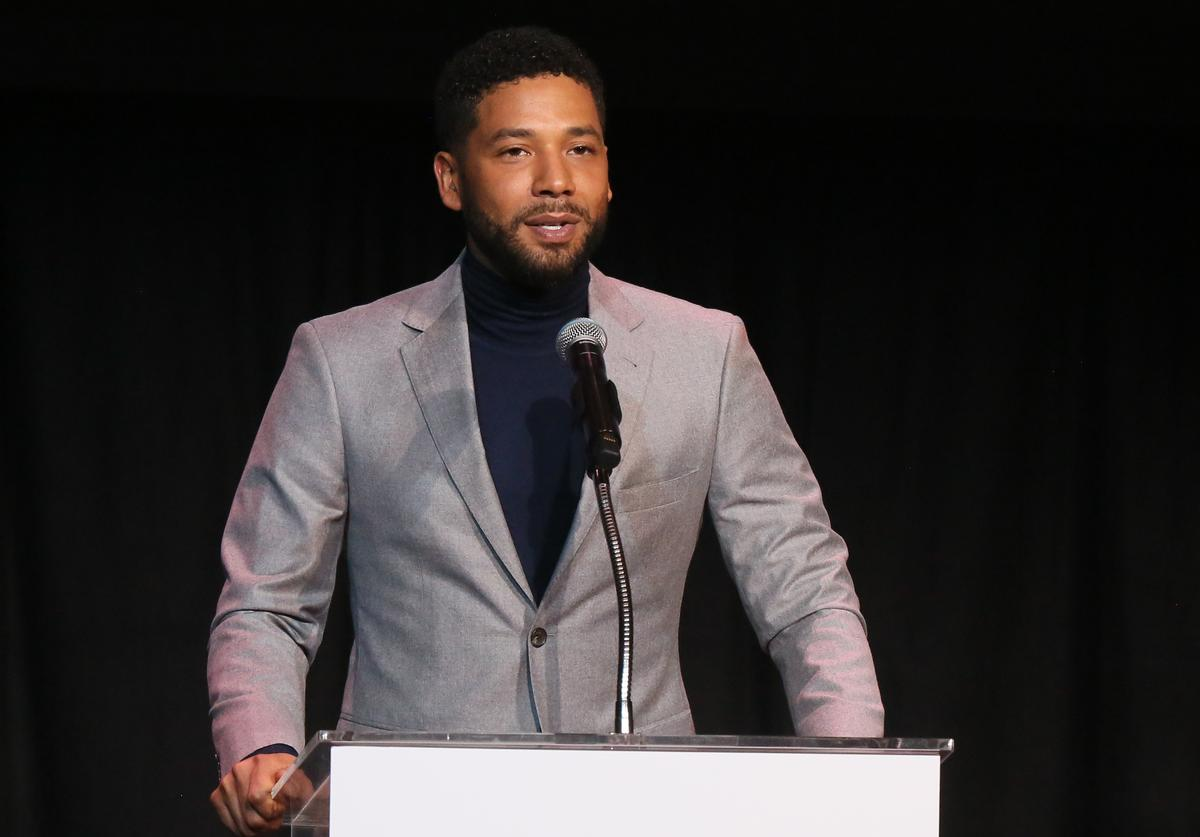 Jussie Smollett speaks at the Children's Defense Fund California's 28th Annual Beat The Odds Awards at Skirball Cultural Center on December 6, 2018 in Los Angeles, California. (