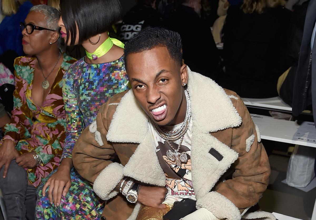 Rich the Kid attends the Jeremy Scott front row during New York Fashion Week: The Shows at Gallery I at Spring Studios on February 8, 2019 in New York City