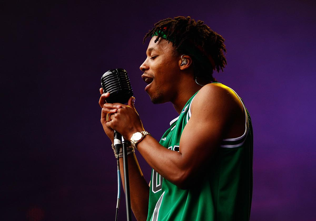 Lupe Fiasco performs live on stage during Supafest 2012 at ANZ Stadium on April 15, 2012 in Sydney, Australia