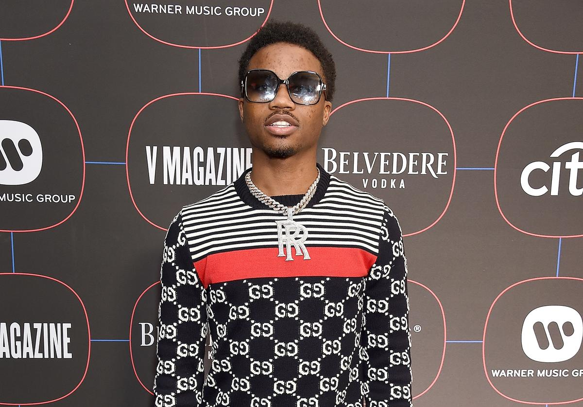 Roddy Ricch arrives at the Warner Music Group Pre-Grammy Celebration at Nomad Hotel Los Angeles on February 7, 2019 in Los Angeles, California