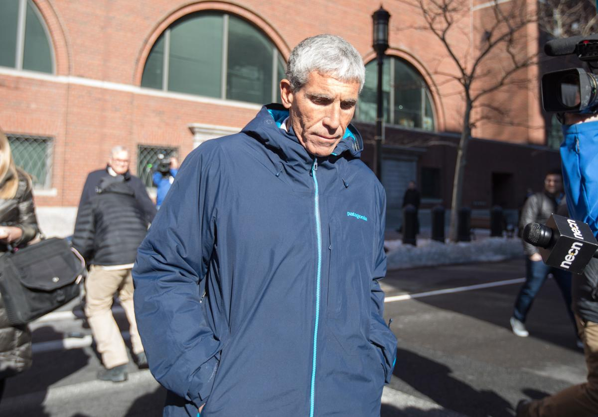 William 'Rick' Singer leaves Boston Federal Court after being charged with racketeering conspiracy, money laundering conspiracy, conspiracy to defraud the United States, and obstruction of justice on March 12, 2019 in Boston, Massachusetts