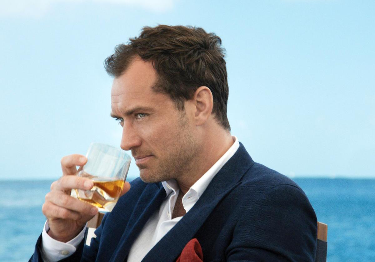Johnnie Walker Blue Label announces collaboration with Jude Law to present the 'Gentleman's Wager' film on July 1, 2014.