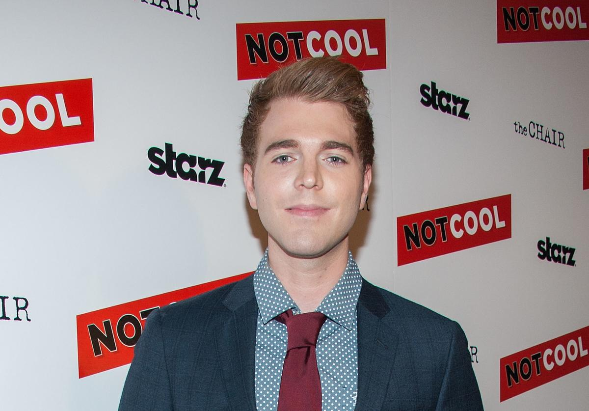 Shane Dawson arrives at the Premiere Of Starz Digital Media's 'Not Cool' at the Landmark Theater on September 18, 2014 in Los Angeles, California