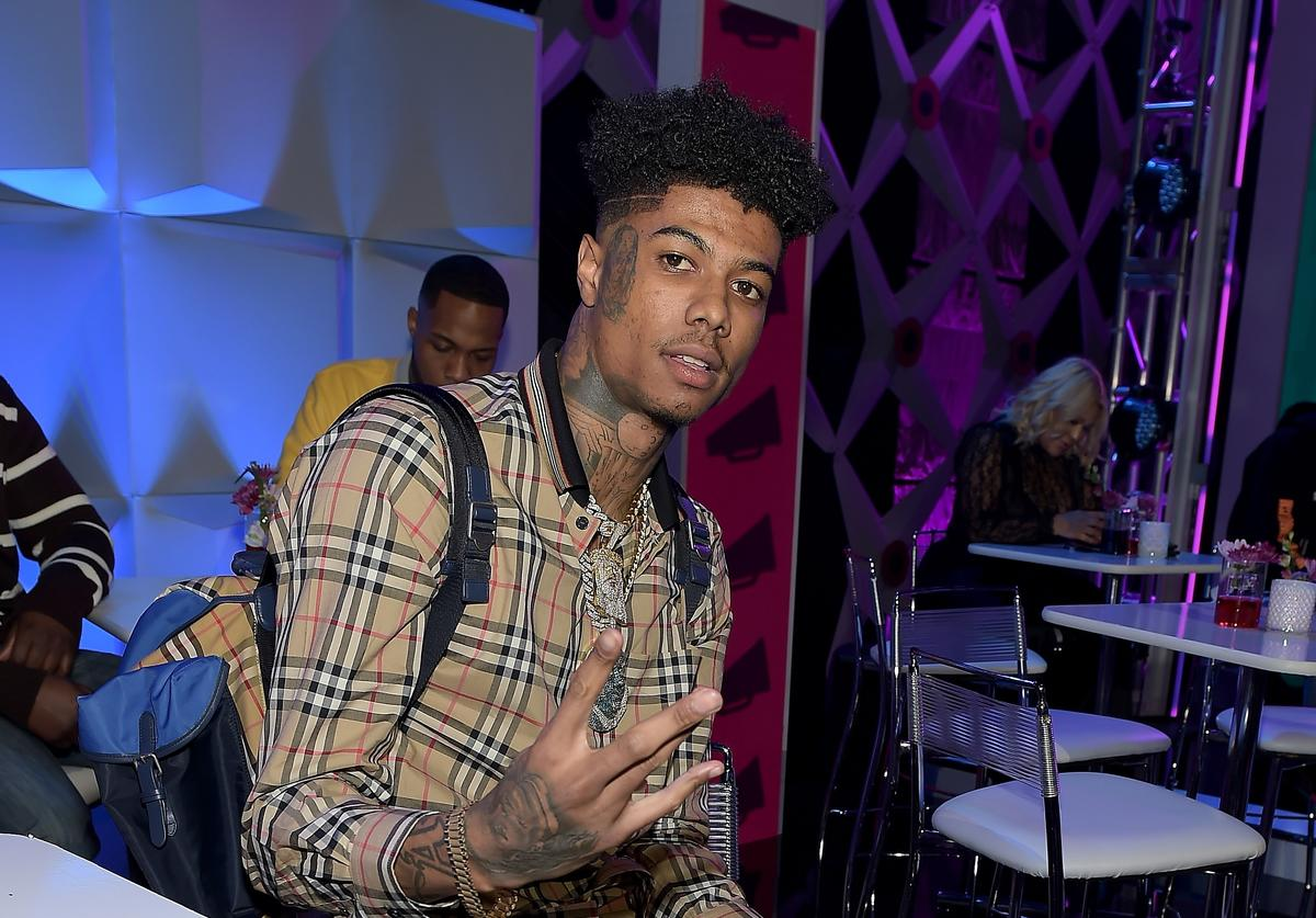 Rapper Blueface attends the 2019 BET Social Awards at Tyler Perry Studio on March 3, 2019 in Atlanta, Georgia.