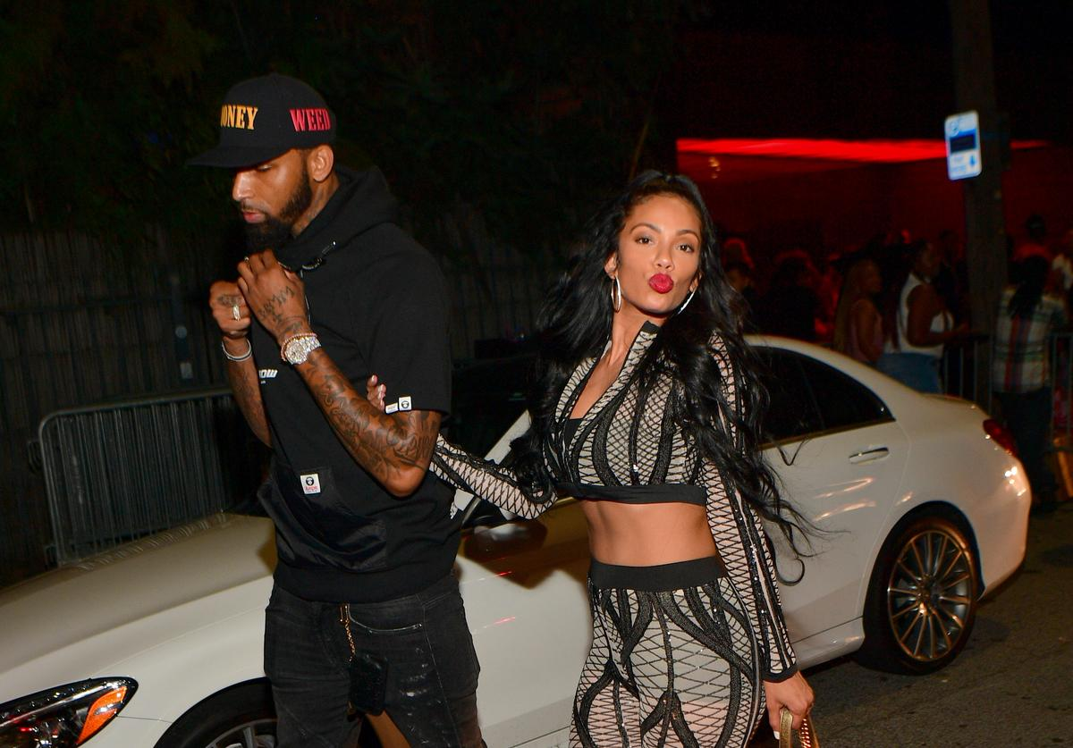 Cliff Dixon and Erica Mena attends the Labor Day Weekend Celebration at Compound on September 2, 2018 in Atlanta, Georgia