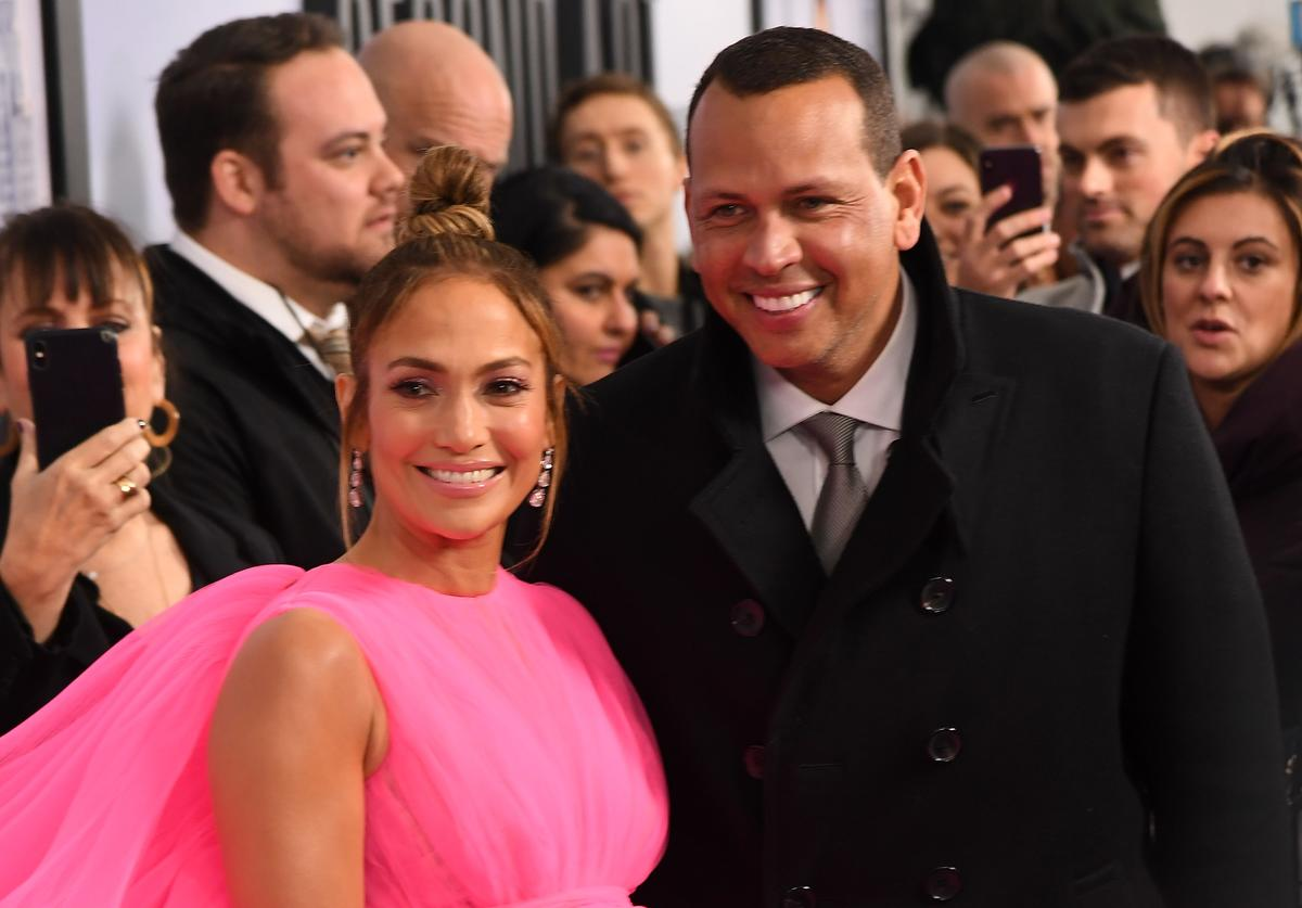 Jennifer Lopez and Alex Rodriguez attend the world premiere of 'Second Act' at Regal Union Square Theatre, Stadium 14 on December 12, 2018 in New York City