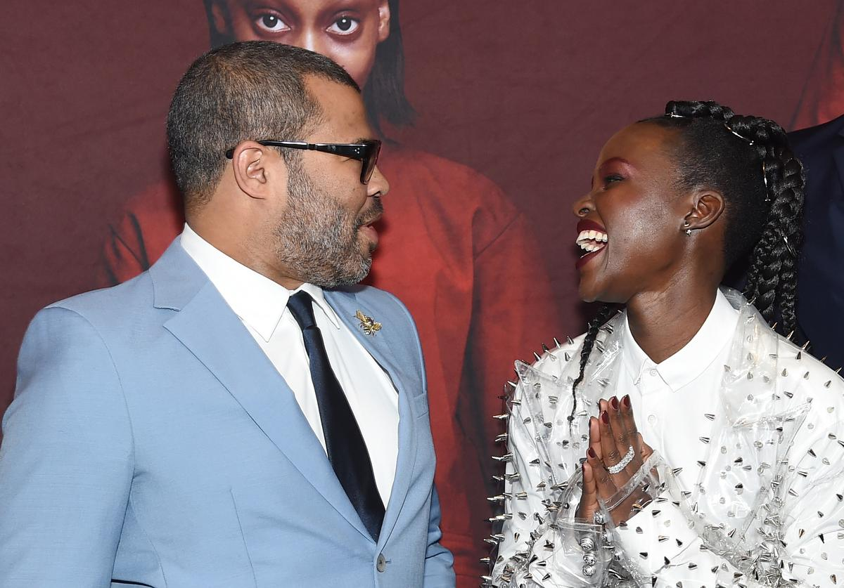 Jordan Peele and Lupita Nyong'o attend the 'US' premiere at Museum of Modern Art on March 19, 2019 in New York City