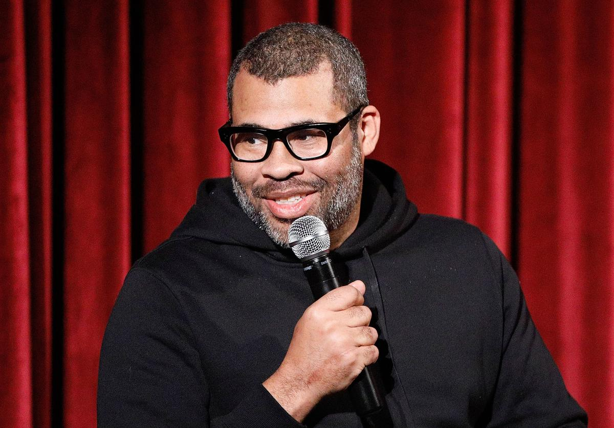 Director Jordan Peele on stage during The Academy of Motion Picture Arts and Sciences official screening of Us at the MoMA Celeste Bartos Theater on March 18, 2019 in New York City.
