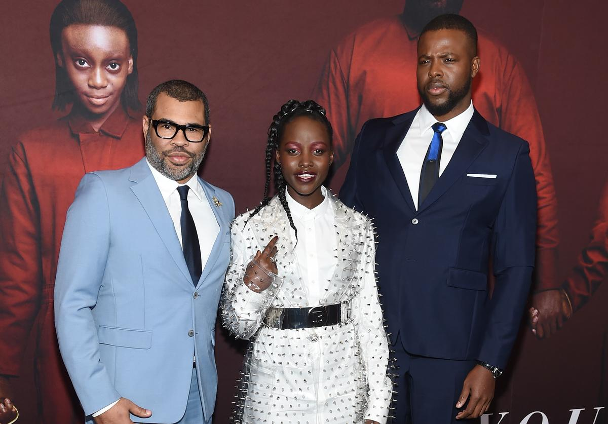 Jordan Peele, Lupita Nyong'o and Winston Duke attend the 'US' premiere at Museum of Modern Art on March 19, 2019 in New York City.