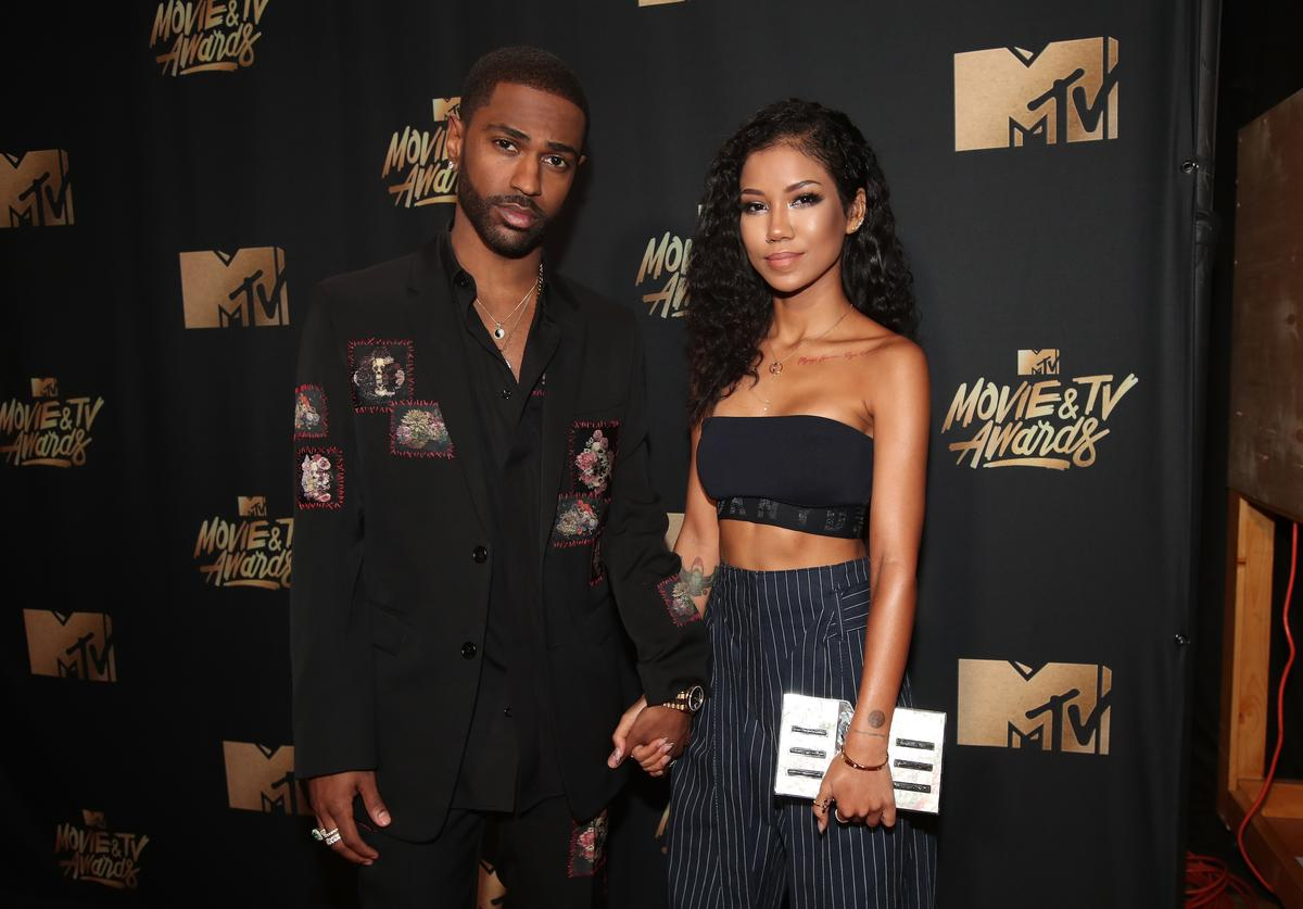 Rapper Big Sean (L) and singer Jhene Aiko attend the 2017 MTV Movie And TV Awards at The Shrine Auditorium on May 7, 2017 in Los Angeles, California.